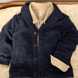 Gymboree long sleeve shirt & coat